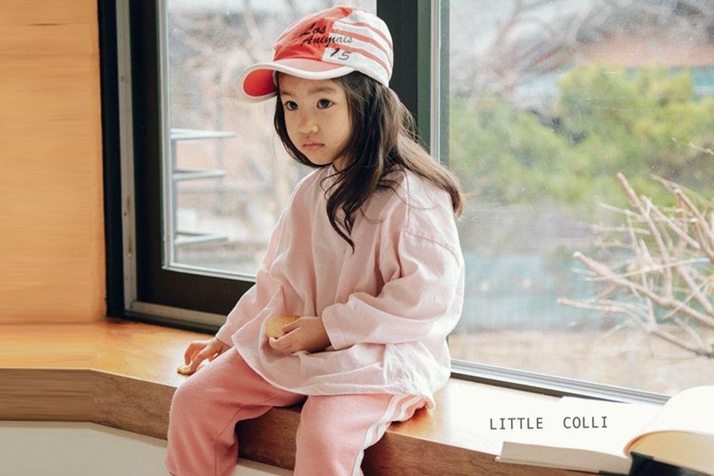 LITTLE COLLI - BRAND - Korean Children Fashion - #Kfashion4kids - Small Stripe Tee