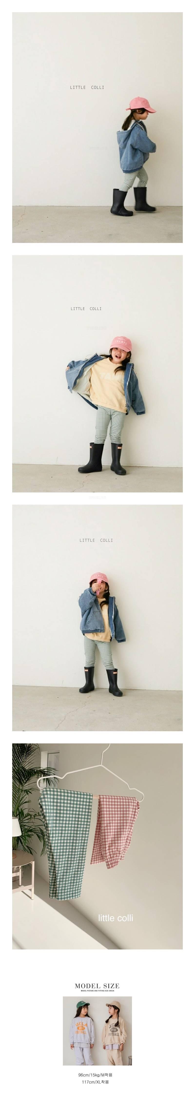 LITTLE COLLI - Korean Children Fashion - #Kfashion4kids - Check Leggings