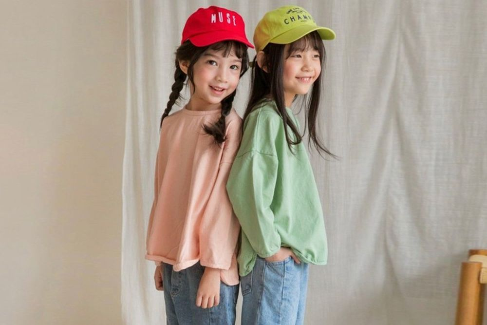 LITTLE COLLI - BRAND - Korean Children Fashion - #Kfashion4kids - Color Piping Tee