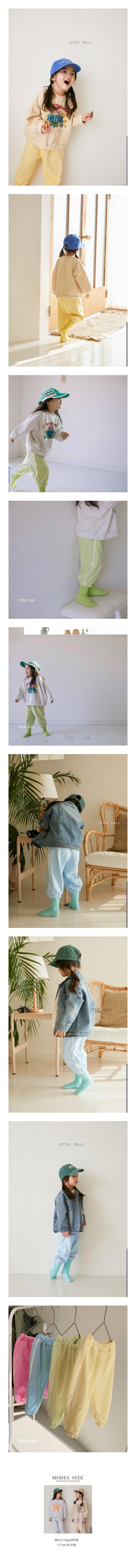 LITTLE COLLI - Korean Children Fashion - #Kfashion4kids - Color Jogger Pants