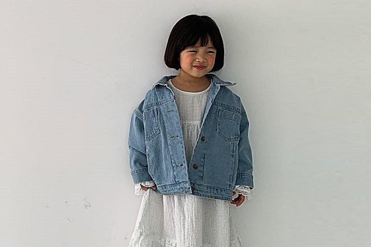 LITTLE COLLI - BRAND - Korean Children Fashion - #Kfashion4kids - Campus Denim Jacket