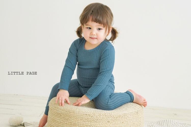 LITTLE PAGE - BRAND - Korean Children Fashion - #Kfashion4kids - Rib Tummy Warm Easywear