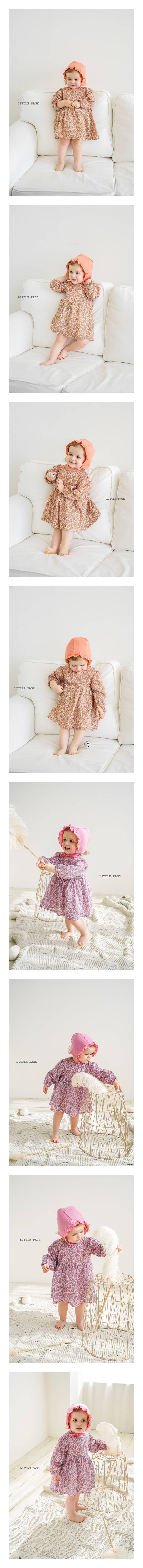 LITTLE PAGE - Korean Children Fashion - #Kfashion4kids - Floral One-piece Bodysuit