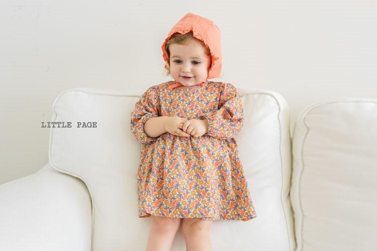 LITTLE PAGE - BRAND - Korean Children Fashion - #Kfashion4kids - Floral One-piece Bodysuit