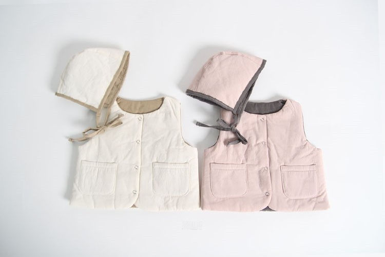 MAC - BRAND - Korean Children Fashion - #Kfashion4kids - Reversible Vest with Bonnet