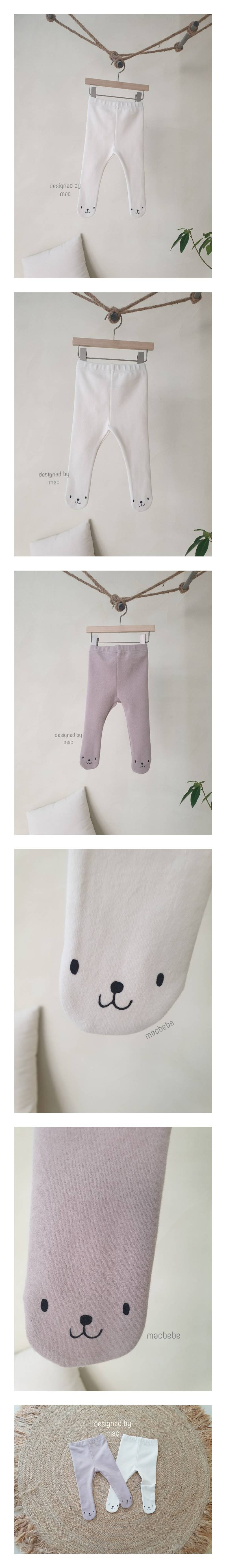 MAC - Korean Children Fashion - #Kfashion4kids - Bear Foot Leggings