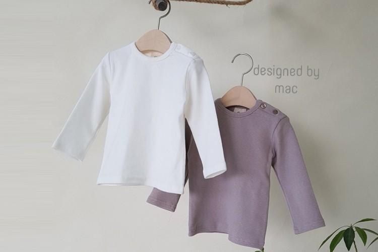 MAC - BRAND - Korean Children Fashion - #Kfashion4kids - Basic Bebe Tee