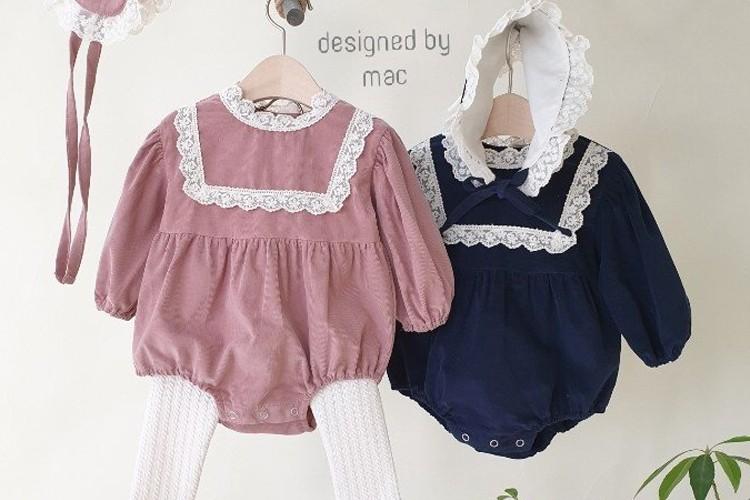 MAC - BRAND - Korean Children Fashion - #Kfashion4kids - Little Princess Bodysuit with Bonnet
