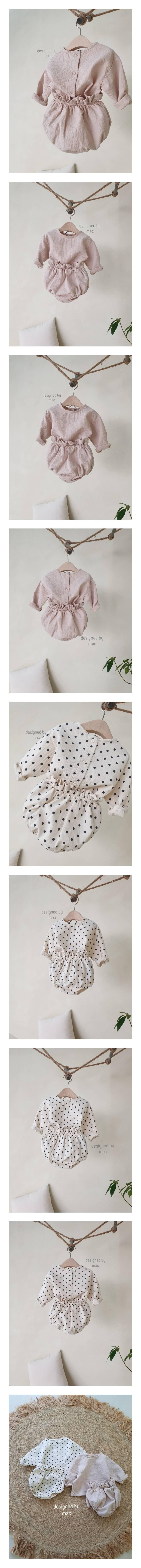 MAC - Korean Children Fashion - #Kfashion4kids - Bebe Top Blommer Set