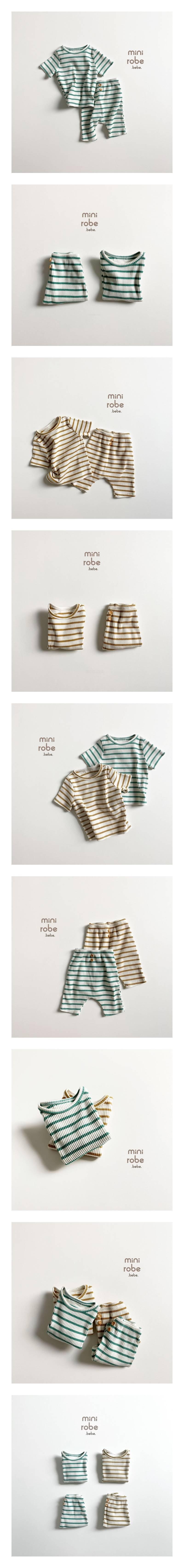 MINI ROBE - Korean Children Fashion - #Kfashion4kids - Bebe Wood Top Bottom Set