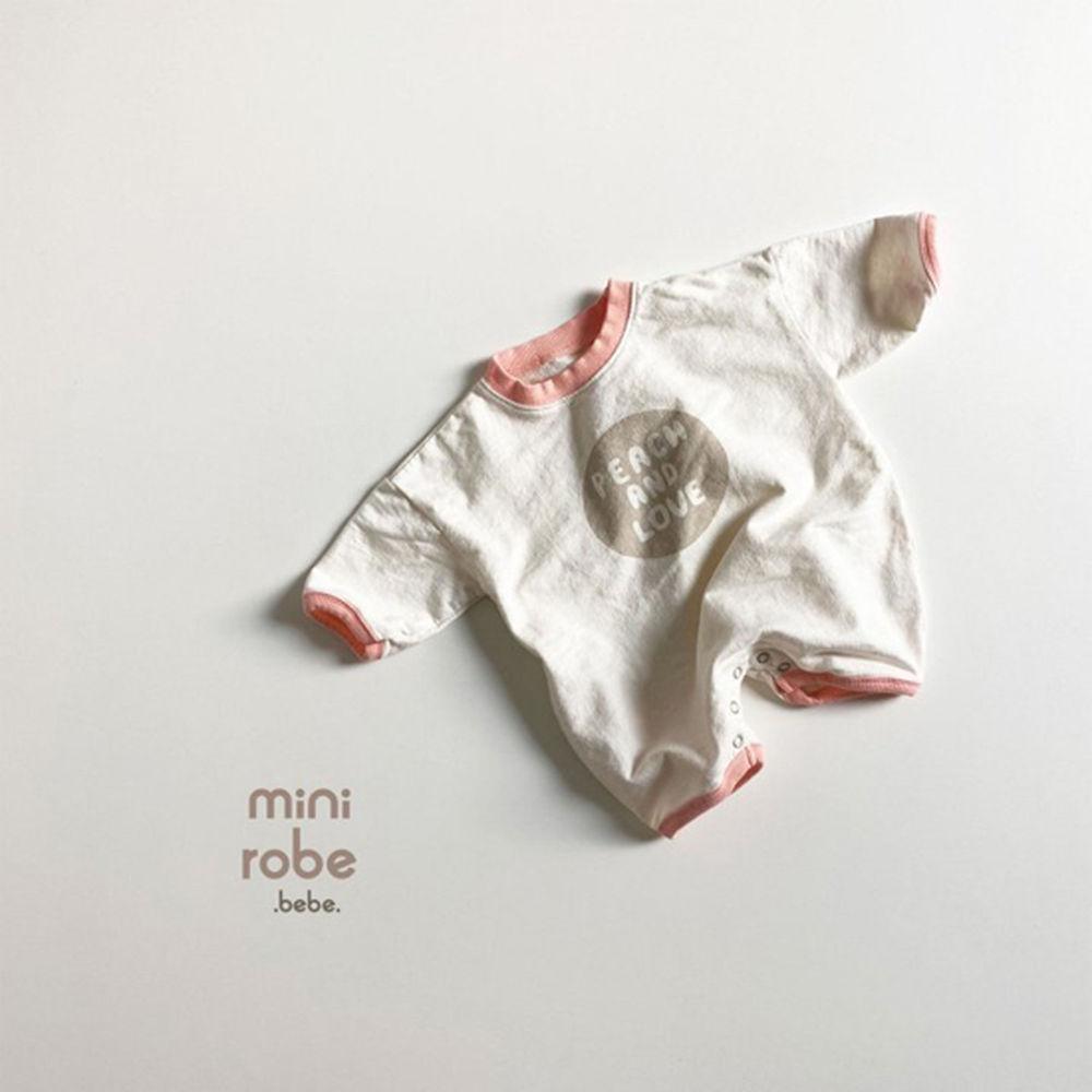 MINI ROBE - Korean Children Fashion - #Kfashion4kids - Peach Bodysuit - 10