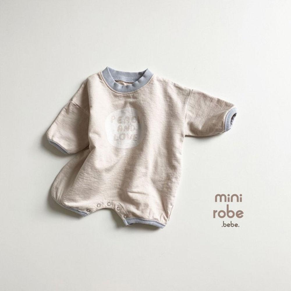 MINI ROBE - Korean Children Fashion - #Kfashion4kids - Peach Bodysuit - 2