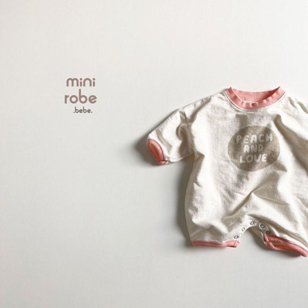 MINI ROBE - Korean Children Fashion - #Kfashion4kids - Peach Bodysuit - 3