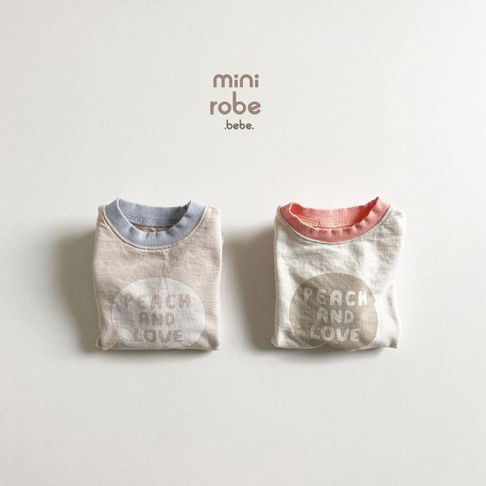 MINI ROBE - Korean Children Fashion - #Kfashion4kids - Peach Bodysuit - 4