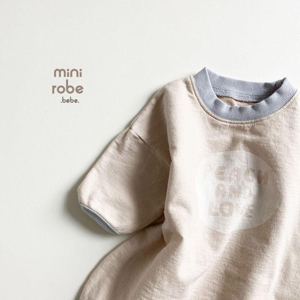 MINI ROBE - Korean Children Fashion - #Kfashion4kids - Peach Bodysuit - 5