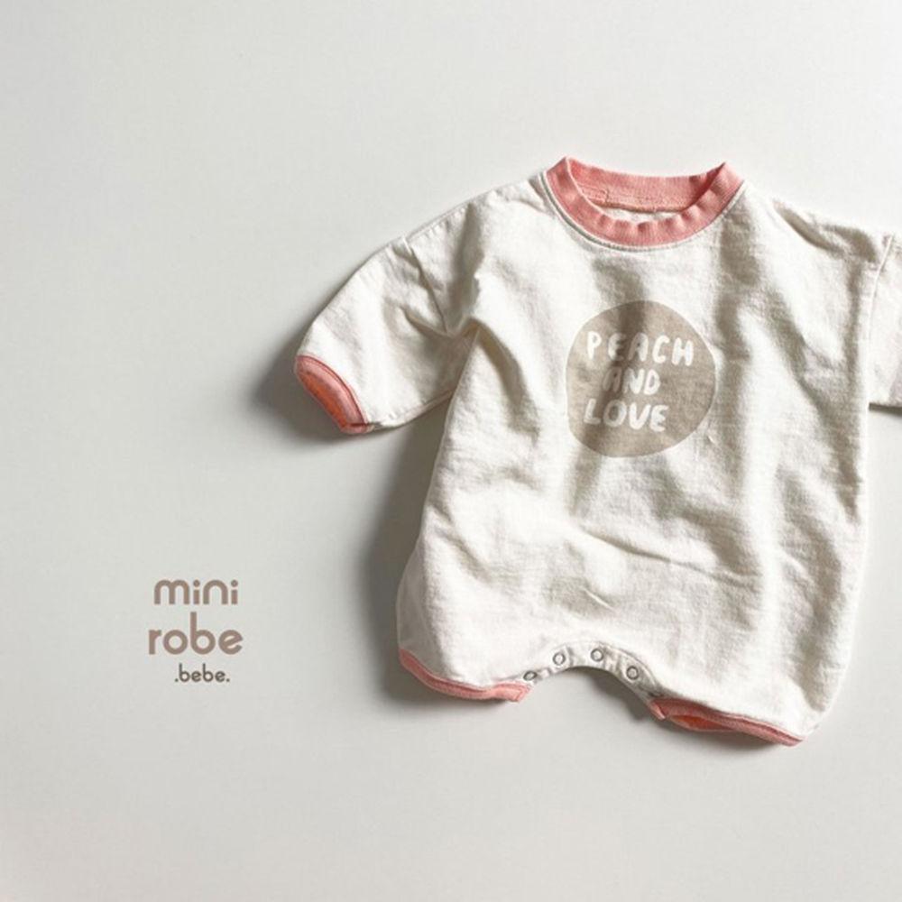 MINI ROBE - Korean Children Fashion - #Kfashion4kids - Peach Bodysuit - 6