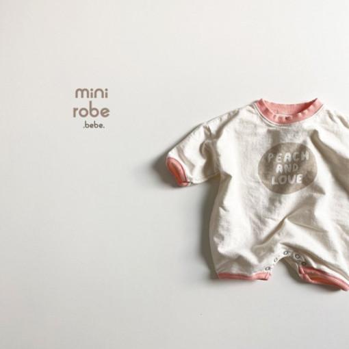 MINI ROBE - BRAND - Korean Children Fashion - #Kfashion4kids - Peach Bodysuit