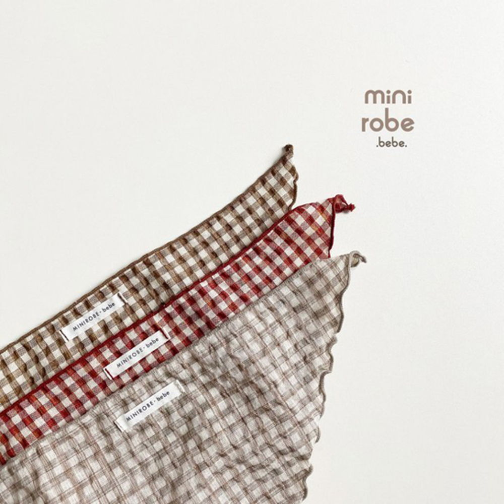MINI ROBE - Korean Children Fashion - #Kfashion4kids - Check Linen Scarf - 10