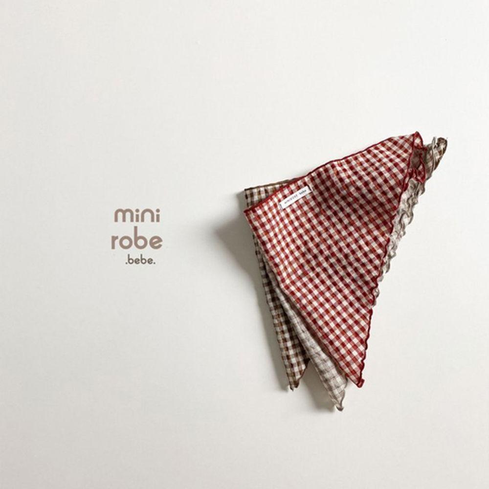 MINI ROBE - Korean Children Fashion - #Kfashion4kids - Check Linen Scarf - 3