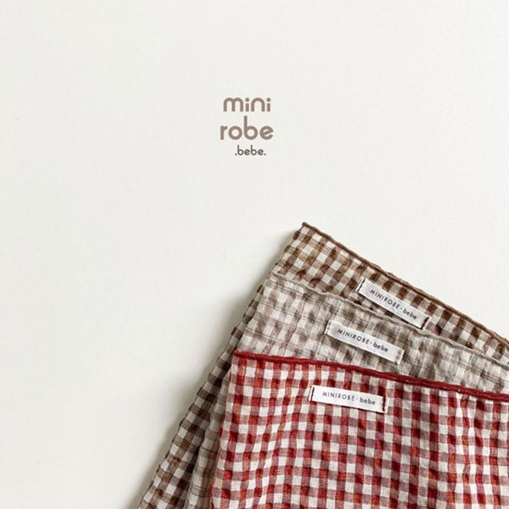 MINI ROBE - Korean Children Fashion - #Kfashion4kids - Check Linen Scarf - 4