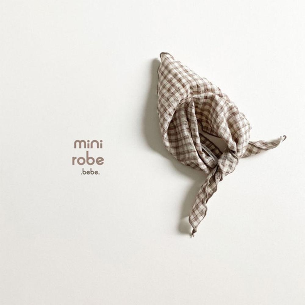 MINI ROBE - Korean Children Fashion - #Kfashion4kids - Check Linen Scarf - 7