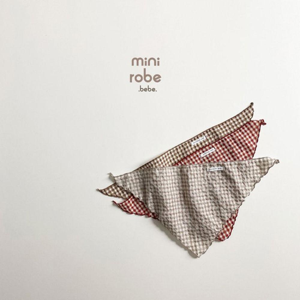 MINI ROBE - Korean Children Fashion - #Kfashion4kids - Check Linen Scarf - 8