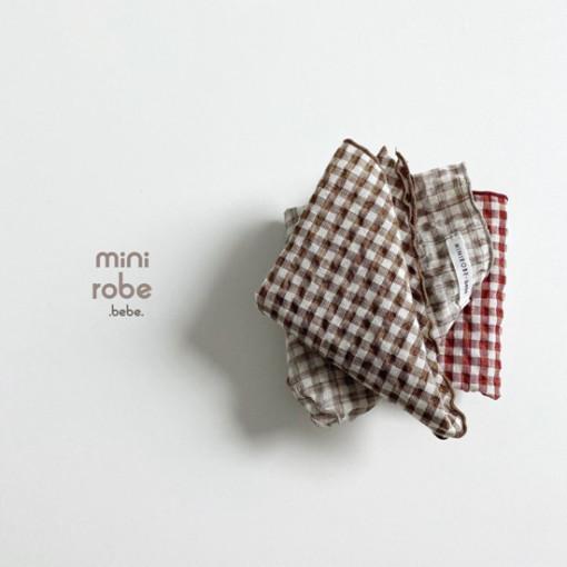 MINI ROBE - BRAND - Korean Children Fashion - #Kfashion4kids - Check Linen Scarf