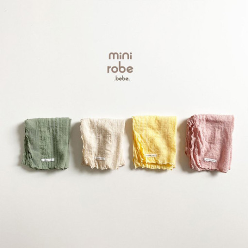 MINI ROBE - BRAND - Korean Children Fashion - #Kfashion4kids - Embroidery Scarf