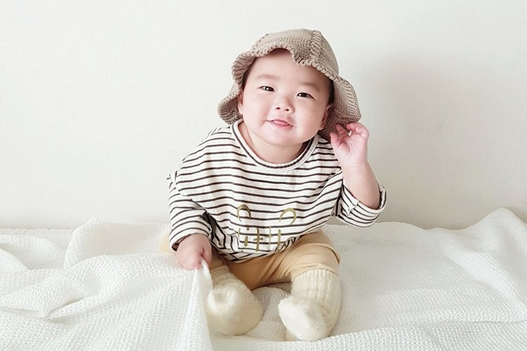 MINI ROBE - BRAND - Korean Children Fashion - #Kfashion4kids - Pooh Stripe Tee