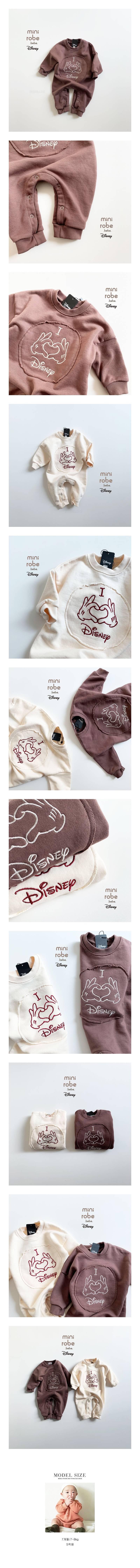 MINI ROBE - Korean Children Fashion - #Kfashion4kids - Love Bodysuit