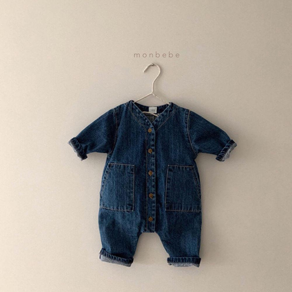 MONBEBE - Korean Children Fashion - #Kfashion4kids - Denim Bodysuit - 2