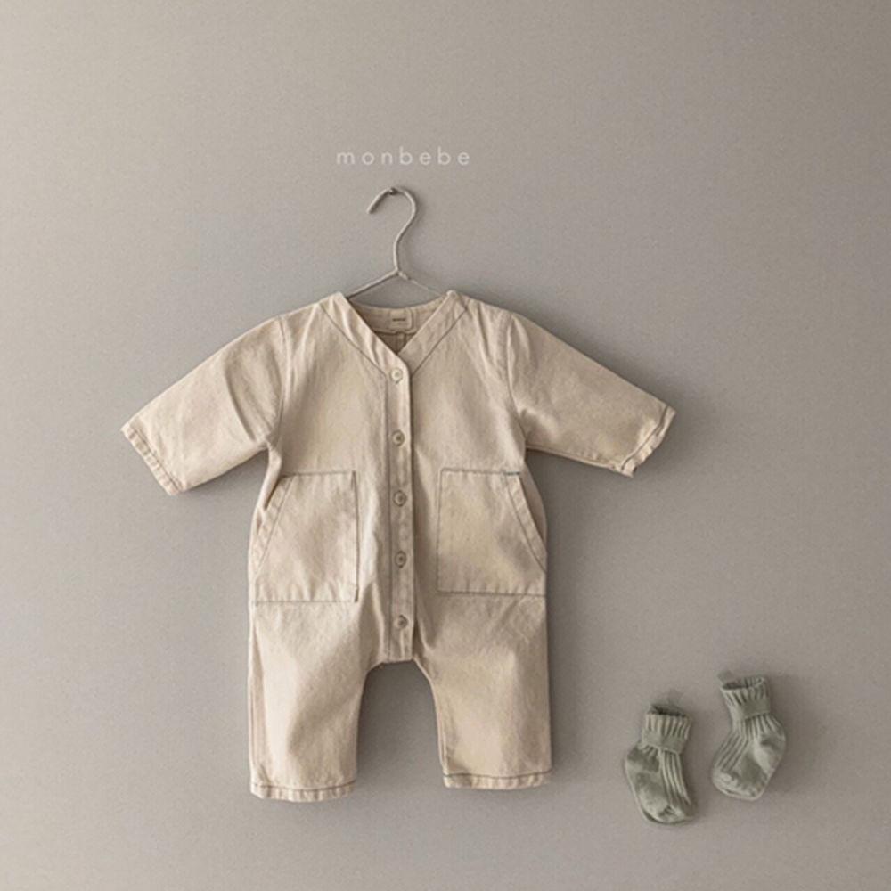 MONBEBE - Korean Children Fashion - #Kfashion4kids - Denim Bodysuit - 3