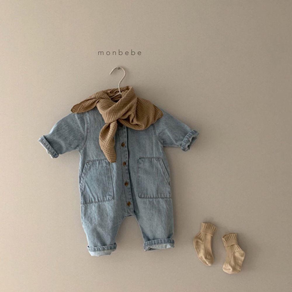 MONBEBE - Korean Children Fashion - #Kfashion4kids - Denim Bodysuit - 4
