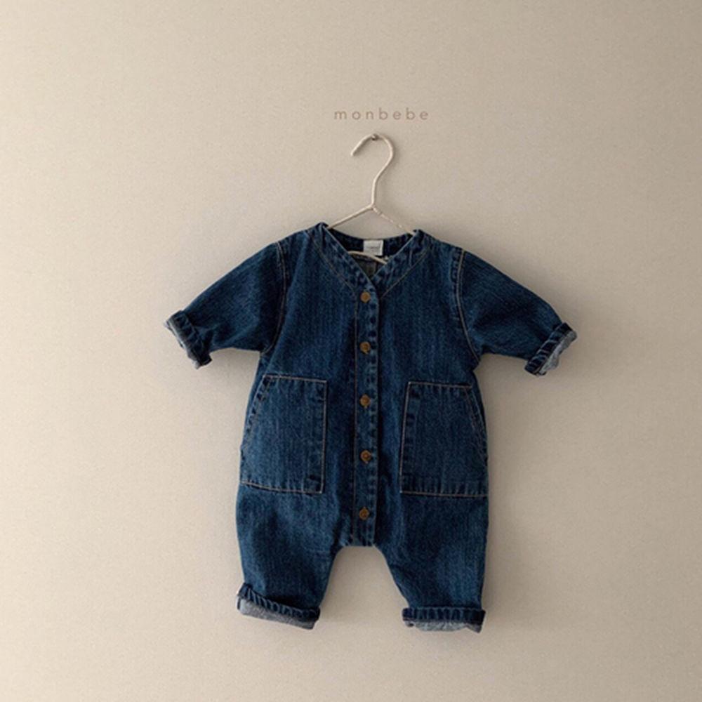 MONBEBE - Korean Children Fashion - #Kfashion4kids - Denim Bodysuit - 5