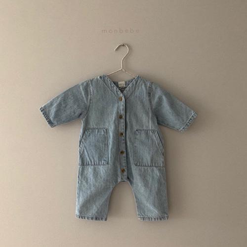 MONBEBE - BRAND - Korean Children Fashion - #Kfashion4kids - Denim Bodysuit