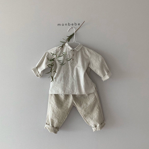 MONBEBE - Korean Children Fashion - #Kfashion4kids - Natural Wide Pants - 12