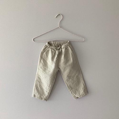 MONBEBE - Korean Children Fashion - #Kfashion4kids - Natural Wide Pants - 9