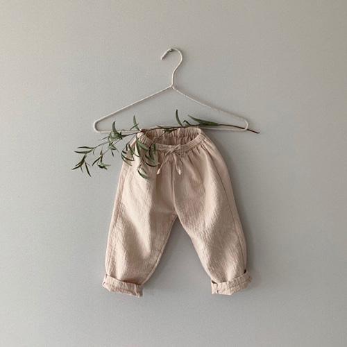 MONBEBE - BRAND - Korean Children Fashion - #Kfashion4kids - Natural Wide Pants