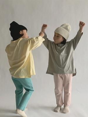 PAUL & J - BRAND - Korean Children Fashion - #Kfashion4kids - Layered Long Tee