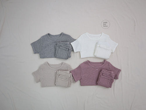 PEEKABOO - BRAND - Korean Children Fashion - #Kfashion4kids - Latte Easywear