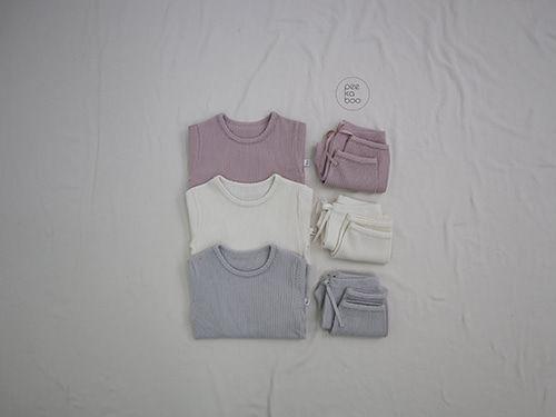 PEEKABOO - BRAND - Korean Children Fashion - #Kfashion4kids - Creamy Easywear