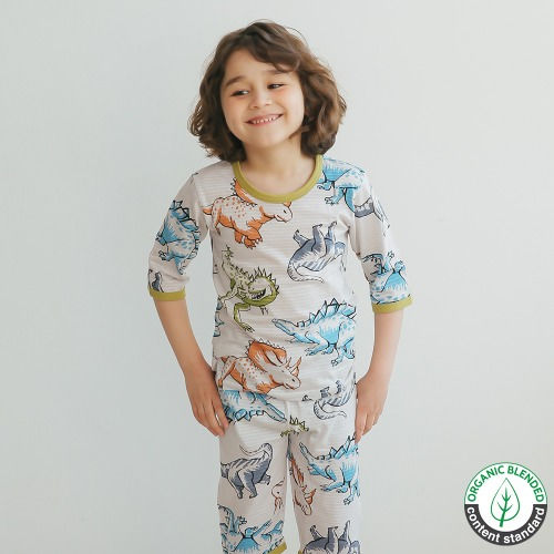 PUCO - BRAND - Korean Children Fashion - #Kfashion4kids - Crayon Dino Easywear