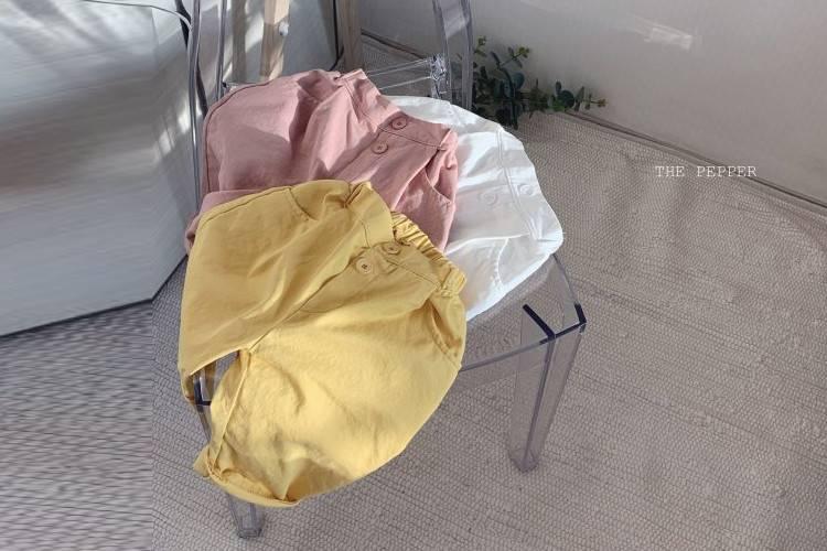 THE PEPPER - BRAND - Korean Children Fashion - #Kfashion4kids - Pleats Cotton Pants