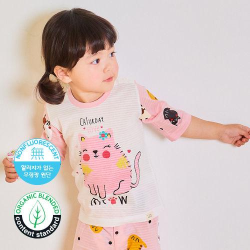 TTASOM - BRAND - Korean Children Fashion - #Kfashion4kids - Pink Cat Easywear