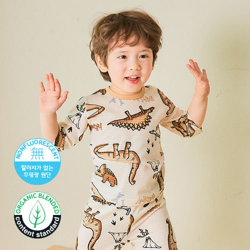 TTASOM - BRAND - Korean Children Fashion - #Kfashion4kids - Crayon Dino Easywear