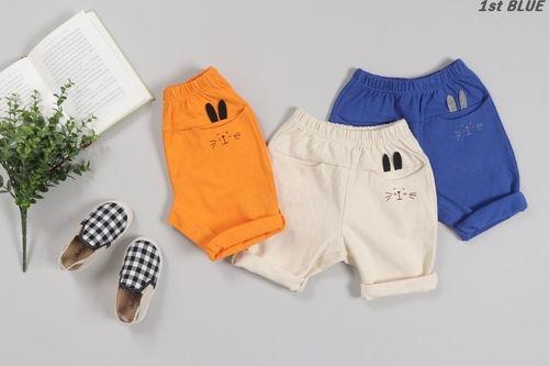 1ST BLUE - BRAND - Korean Children Fashion - #Kfashion4kids - Rabbit Pocket Pants