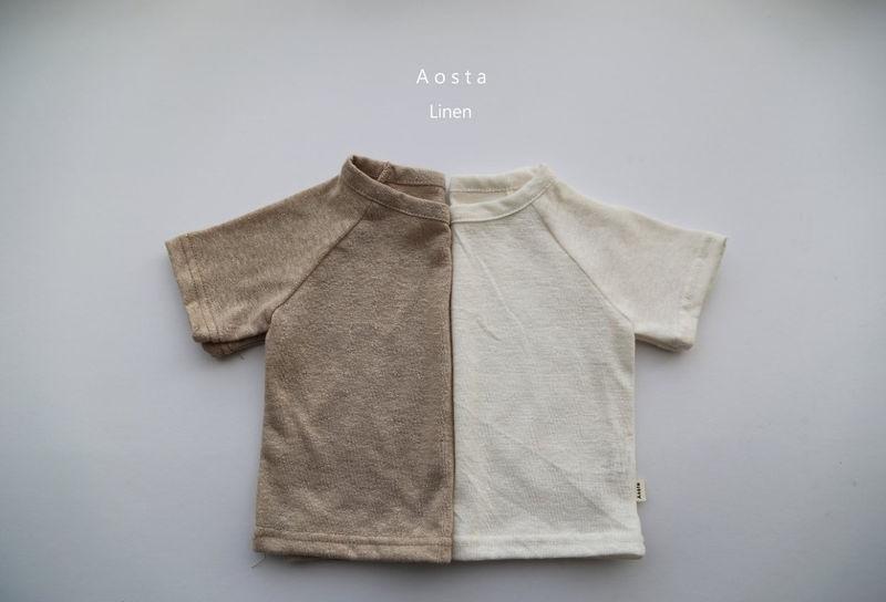AOSTA - Korean Children Fashion - #Kfashion4kids - Linen Raglan Tee