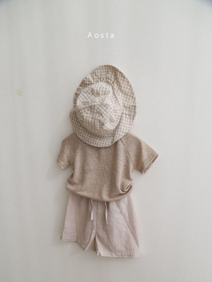 AOSTA - Korean Children Fashion - #Kfashion4kids - Linen Raglan Tee - 12