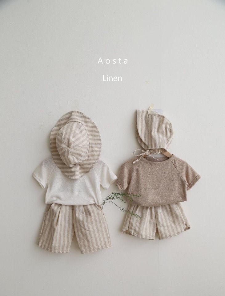 AOSTA - Korean Children Fashion - #Kfashion4kids - Linen Raglan Tee - 3