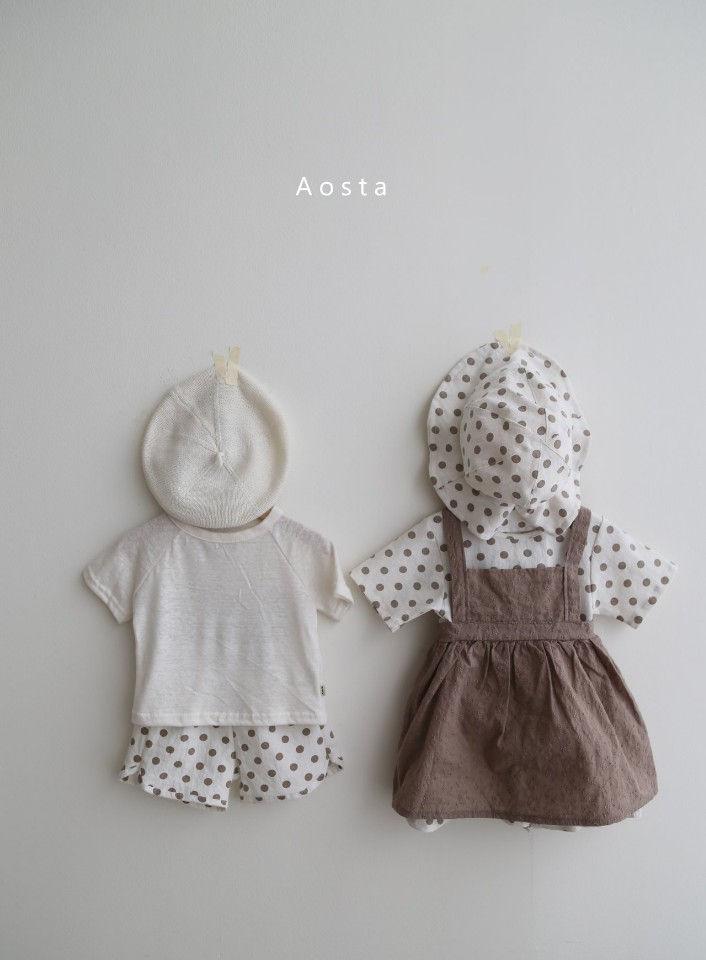 AOSTA - Korean Children Fashion - #Kfashion4kids - Linen Raglan Tee - 5